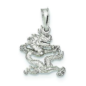 Sterling sølv Solid tilbage Dragon vedhæng - 1,3 g