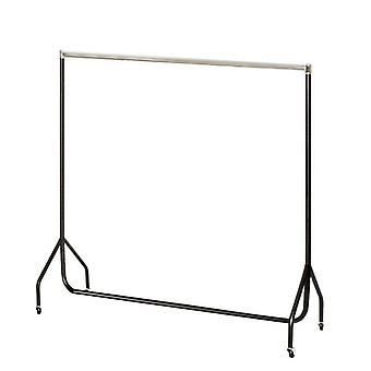6ft Black and Chrome Clothes Rail  W 183 H 155 D 50cms