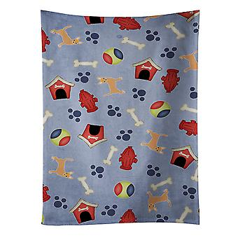 Carolines Treasures  BB4072KTWL Dog House Collection Red Chihuahua Kitchen Towel