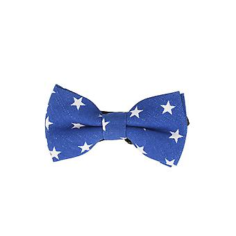 Andrews & co.-bound fly stars star Royal Blue loop bow tie 10 cm x 5.5 cm