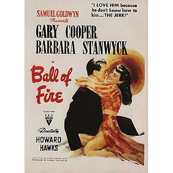 Ball of Fire Movie Poster (11 x 17)