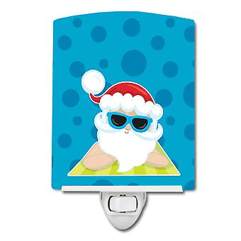 Carolines Treasures  BB9074CNL Beach Santa Claus #7 Ceramic Night Light