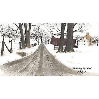 L'impression d'affiches hivernal Road Home par Billy Jacobs (18 x 12)