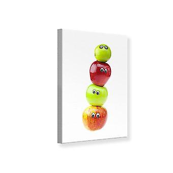 Lærred Print sjov frugt