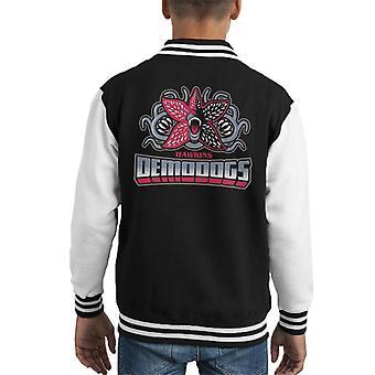 Hawkins Demodogs Stranger Things Kid's Varsity Jacket