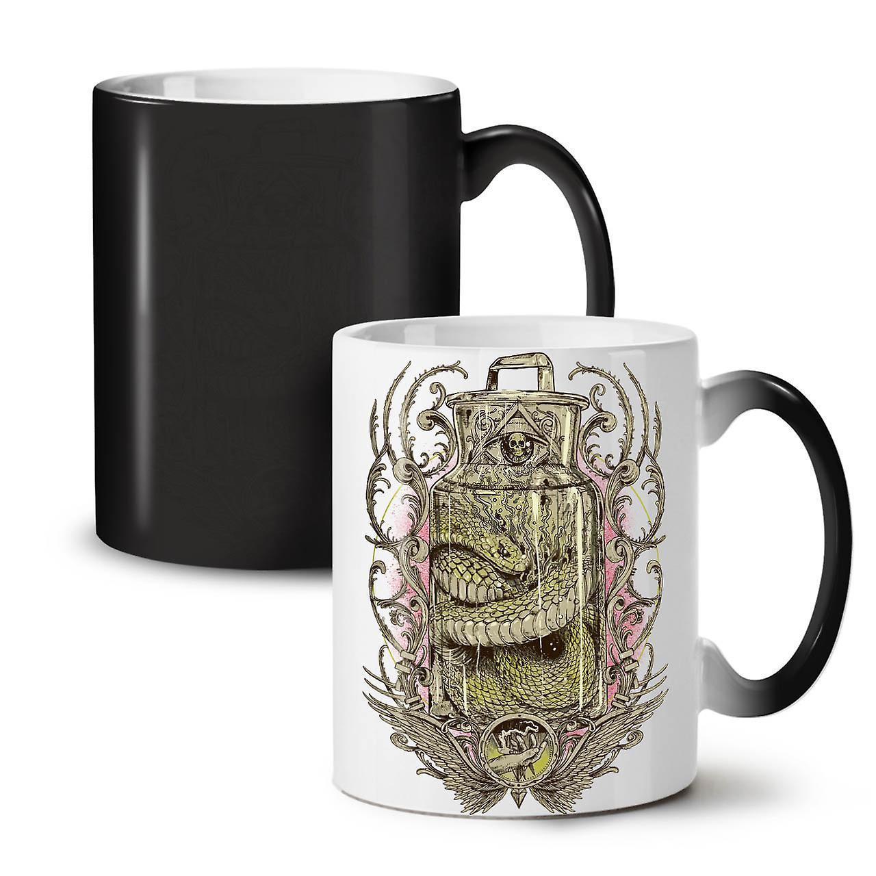 Effrayant Noir De Serpent Nouveau Céramique Tasse OzWellcoda Changeant 11 Café Jar Couleur Thé fvYy76Ibg