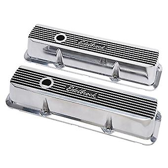 Edelbrock 4277 Elite II Series Valve Cover Polished Raised Fins 3.55 in. Overall Height Elite II Series Valve Cover