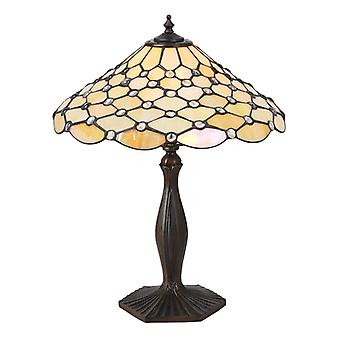 Pärla Medium Tiffany Style bordslampa - interiör 1900 64301