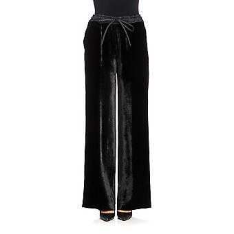 P.A.R.O.S.H. women's ROXETTED230229013 black viscose Pant