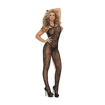 Elegant Moments EM-1610 Lace Bodystocking with open crotch also in plus size