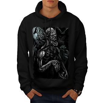 Monster Scary Bat Men BlackHoodie | Wellcoda