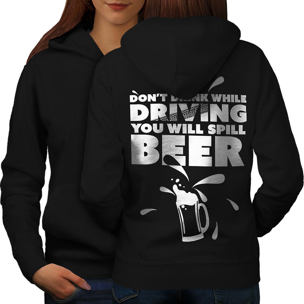 Boire en voiture sarcasme femmes noirHoodie dos