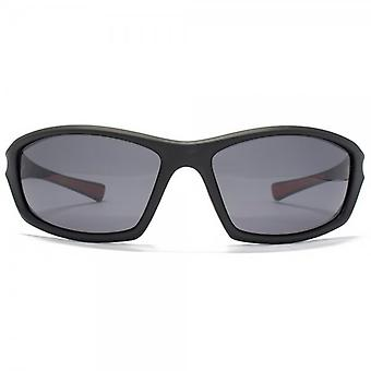 Freedom Polarised Large Wrap Sunglasses In Matte Black
