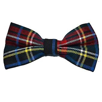 Traditional Dark Green & Black Tartan Bow Tie, Check, Plaid