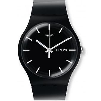 Staal Mono zwart Armbanduhr (SUOB720)