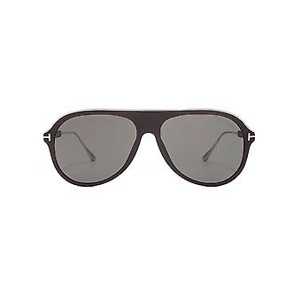 Tom Ford Nicholai 02 Sunglasses In Matte Dark Brown