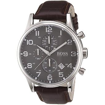 Hugo Boss Mens Jet Chronograph Watch Leather Strap HB 1512570