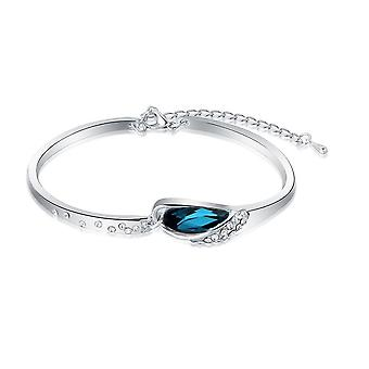 Womens Blue Turqoise Crystal Stone Bangle Bracelet Mix & Match Jewelry