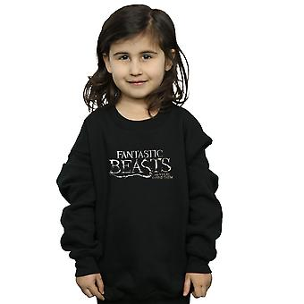 Fantastic Beasts Girls Text Logo Sweatshirt