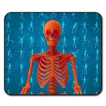 Muster Skelett Mauspad mit Anti-Rutsch Pad 24 x 20 cm | Wellcoda