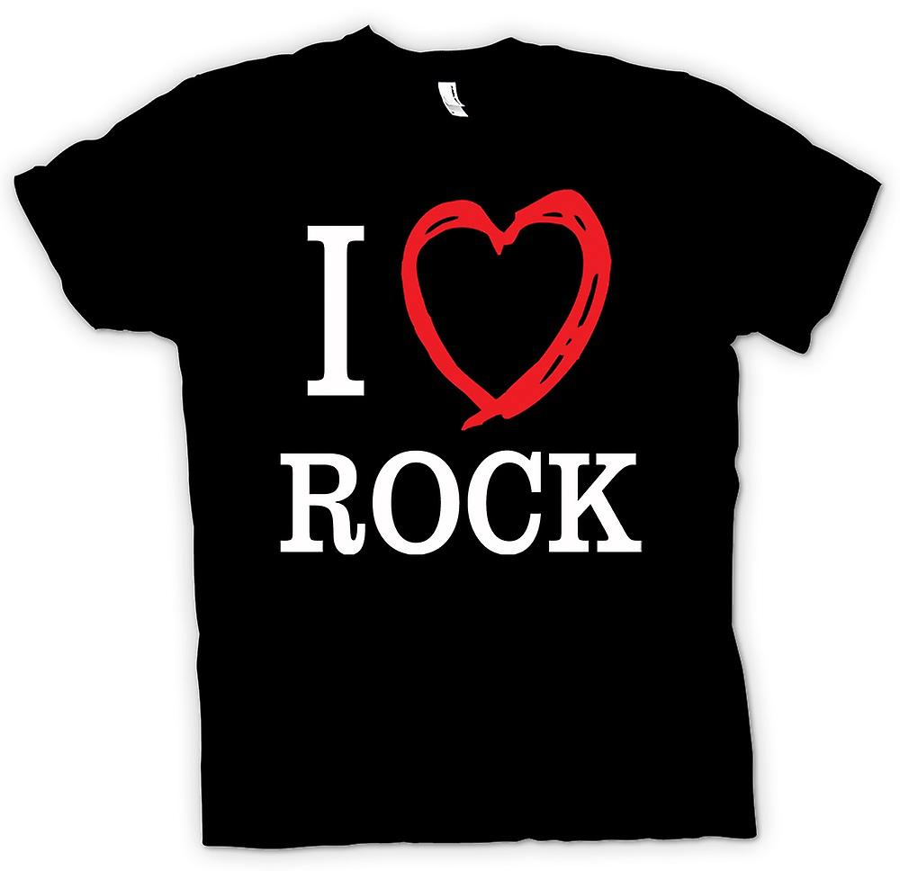 Mens t-shirt - I Love Rock Music Band - citazione