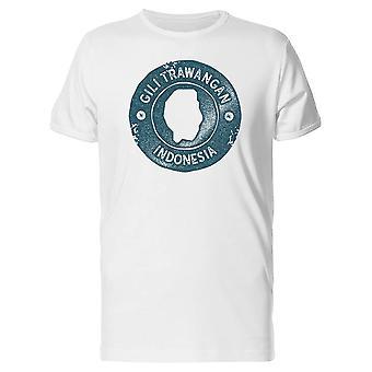 Gili Trawangan Karte Indonesien T-Shirt Herren-Bild von Shutterstock