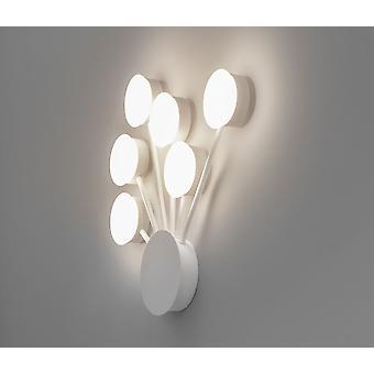 LED Wall lamp vivo dots 46x48cm 6x5W 3000 K ALU Matt wit Kiom 10700