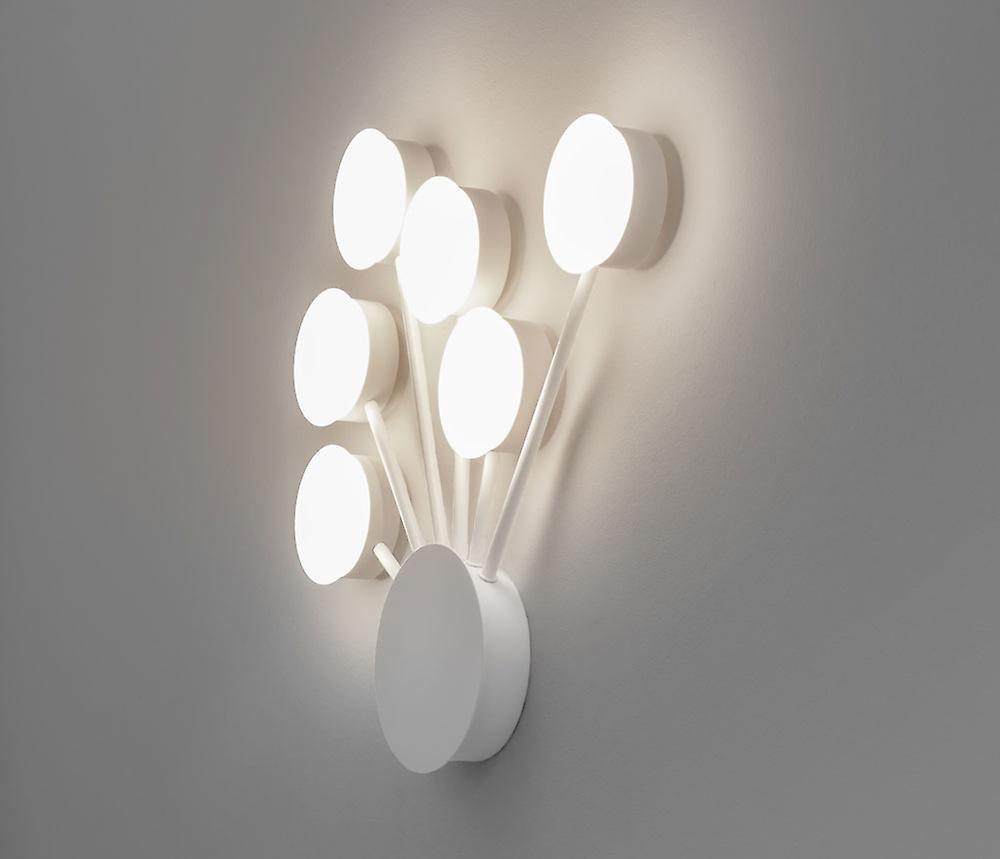 LED Wandleuchte Ledri Dots 46x48cm 6x5W 3000K Alu mattweiß Kiom 10700
