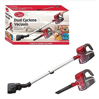 Quest Dual Cyclone Vacuum Cleaner Red Homewares Indoor Handheld Stretch