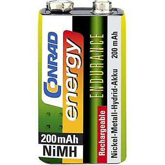 9 V / PP3 battery (rechargeable) NiMH Conrad energy Endurance 6LR61