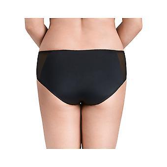 Nessa P1 Women's Megan Black Solid Colour Knickers Panty Brief