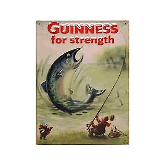 Guinness Fisch große geprägt Stahl Zeichen