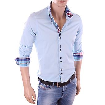 Long sleeves shirt Blue H-110 Carisma Man