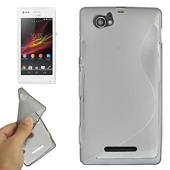 Mobile case TPU case for Sony Xperia M C1904 C1905 grey