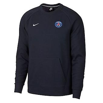 2018-2019 PSG Nike Rundhals Sweat Top (Obsidian)