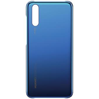 Original Huawei glossy cover, mirror case for Huawei P20 - Dark blue