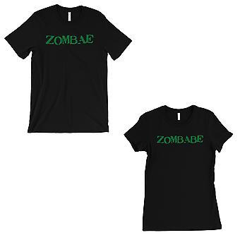 Zombae And Zombabe Matching Couple Gift Shirts Black