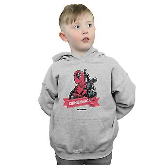 Marvel Boys Deadpool Chimichanga Finger Hoodie