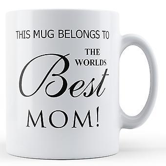 Миров лучших мама печатных кружка