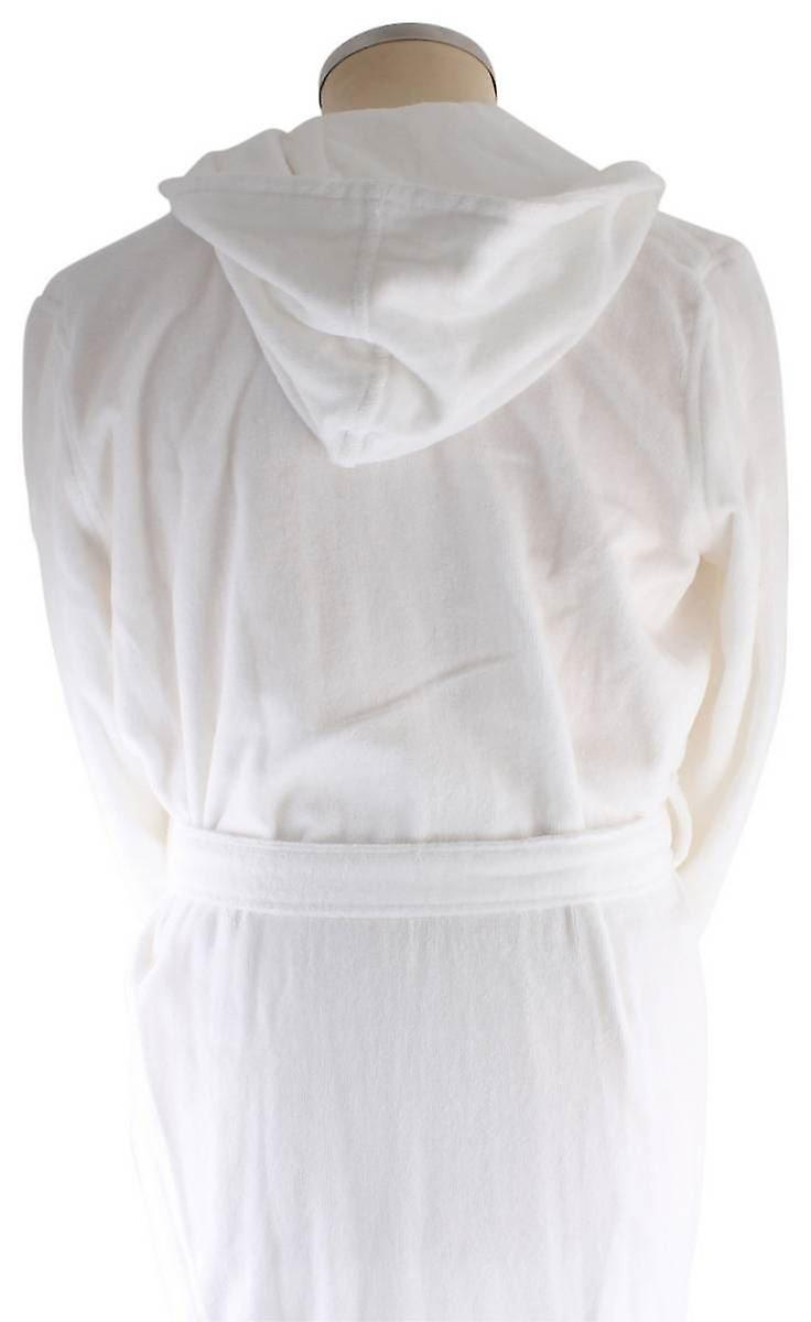 Bown of London Snowdrop Luxury Long Dressing Gown - White