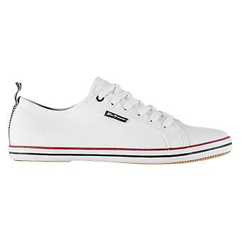 Ben Sherman Mens Lestar Trainers Low Lace Up Canvas Tonal Stitching