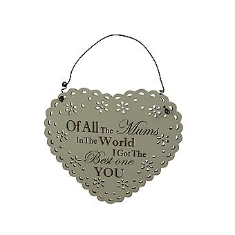 Best Mum In The World Wooden Plaque