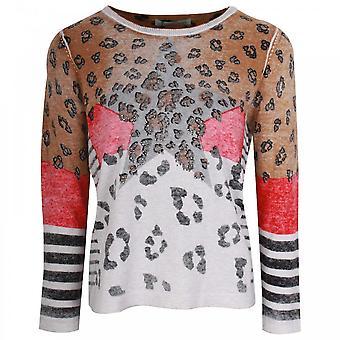 Oui Leopard Print Design Knitted Jumper
