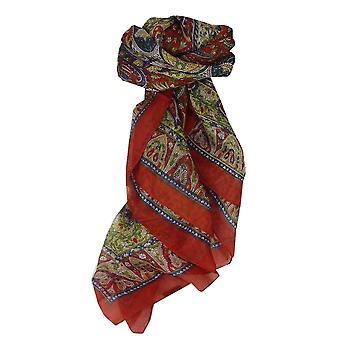 Amoreira seda tradicional lenço quadrado Guyan chama por Pashmina & seda
