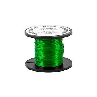 1 × أخضر ساطع مطلي بالنحاس 0.5 مم × 15 م جولة W5120 لفائف الأسلاك الحرف
