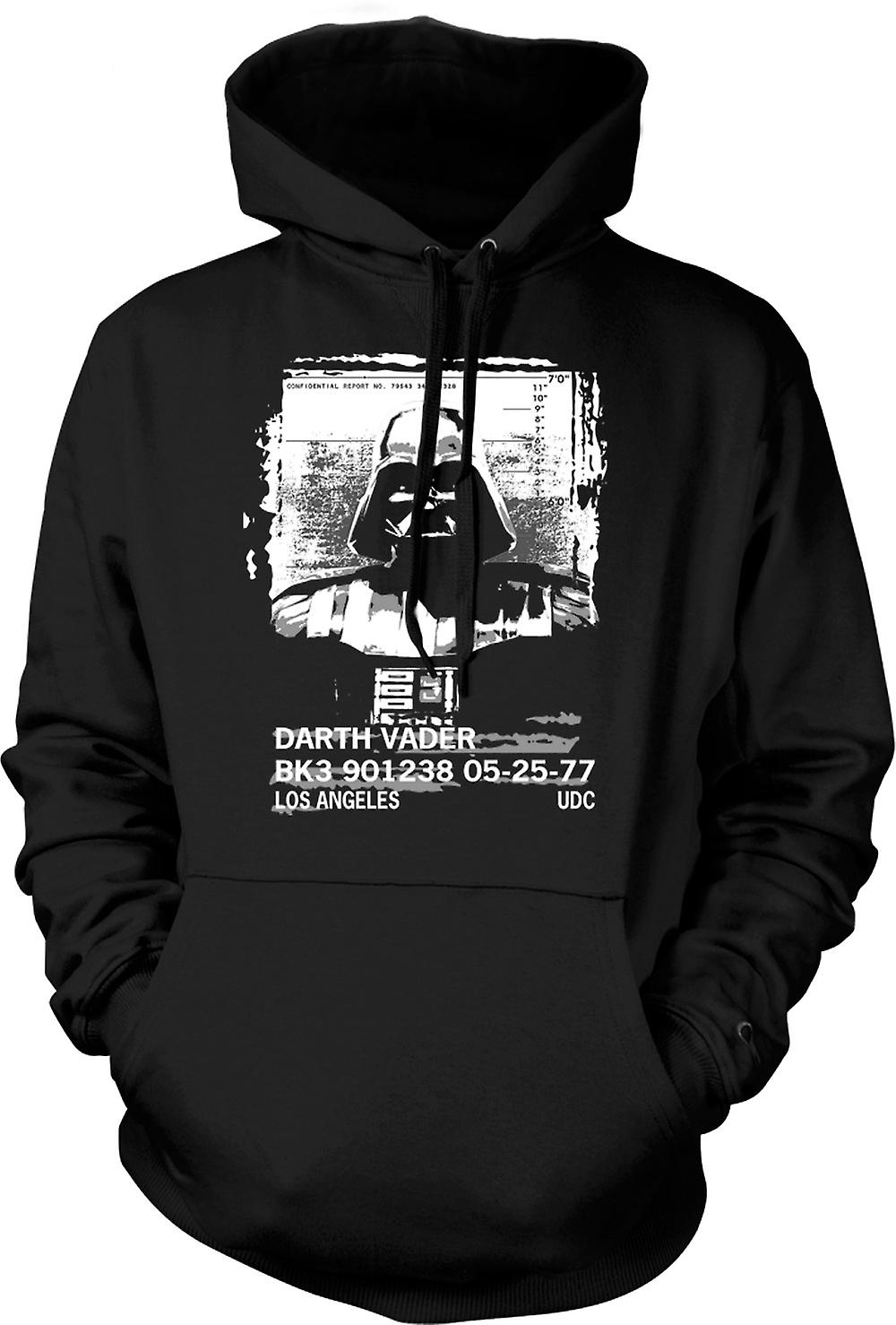 Mens Hoodie - Darth Vader Mug Shot - Star Wars