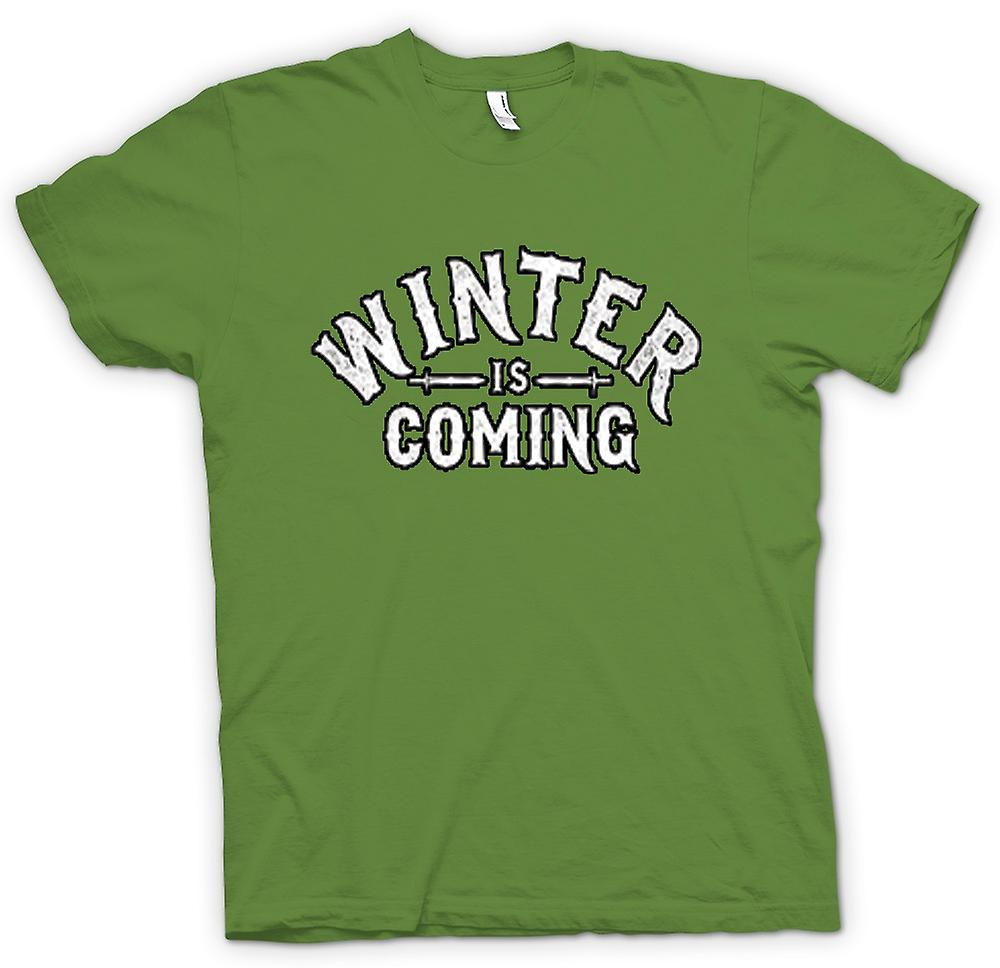 Mens T-shirt - Winter Is Coming Lettering