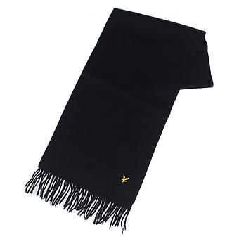 Lyle & Scott Sv311a Lambswool Navy Scarf