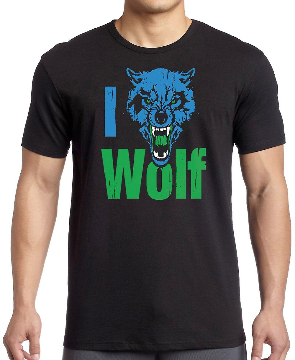 I Love Wolf - Cool Predator T Shirt