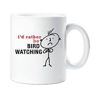 Mens I'd Rather Be Bird Watching Mug